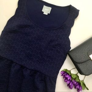 Navy Maeve Anthropologie Scalloped Lace Caye Dress
